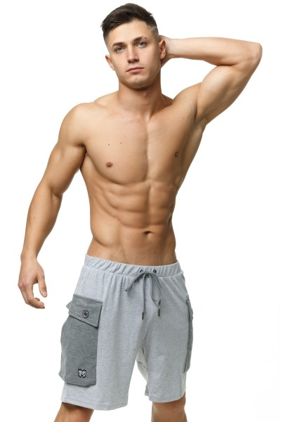 Zaiden Cargo Shorts Grey
