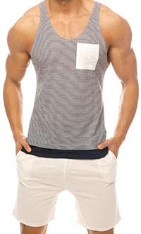 Singlet: Stripes & Shorts: Ivory